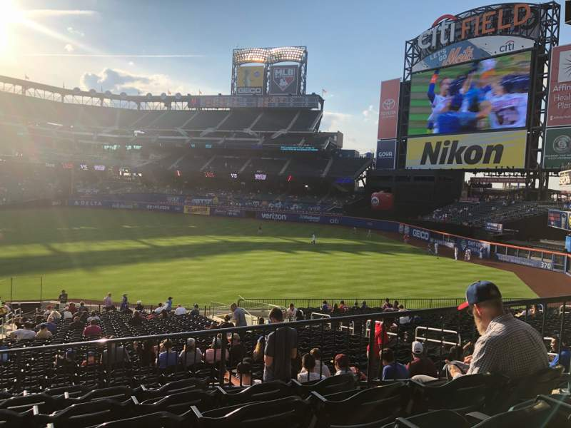 Seating view for Citi Field Section 110 Row 18 Seat 4