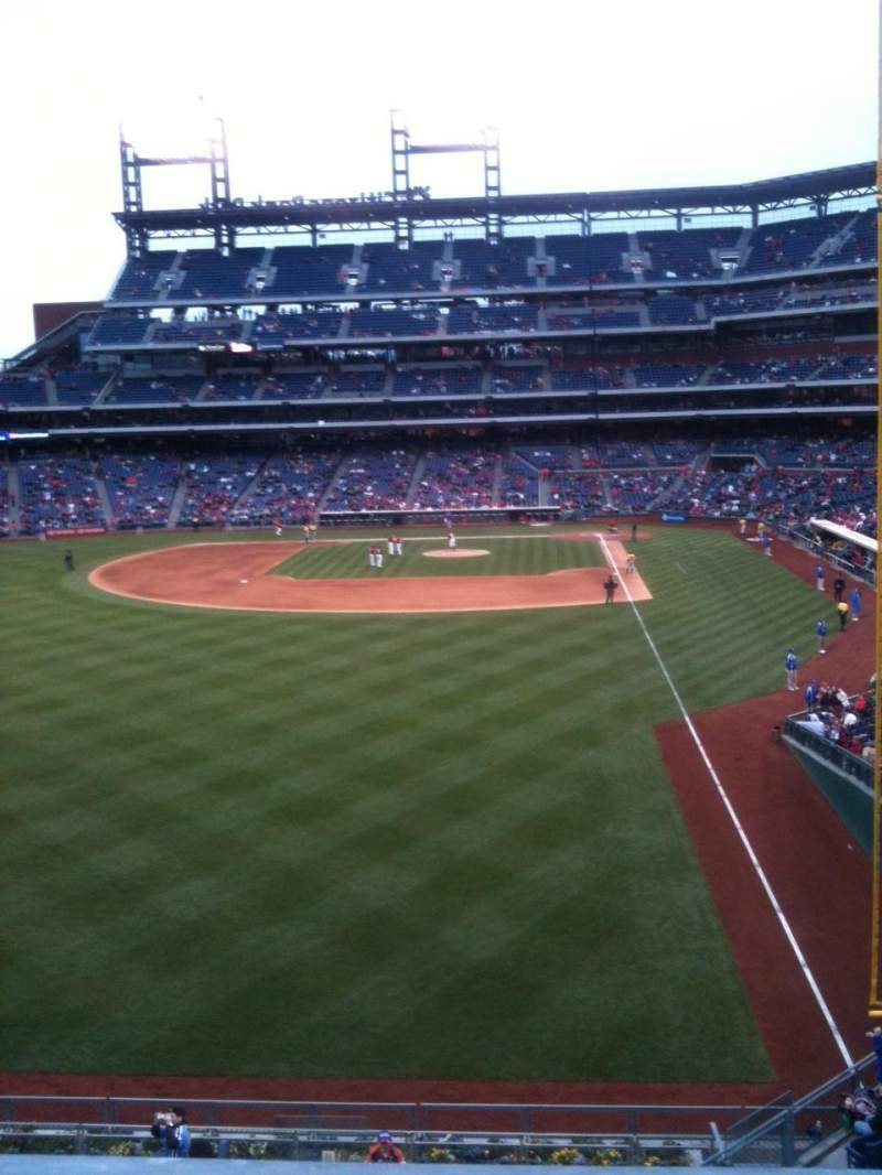 Seating view for Citizens Bank Park Section 241 Row 1 Seat 1