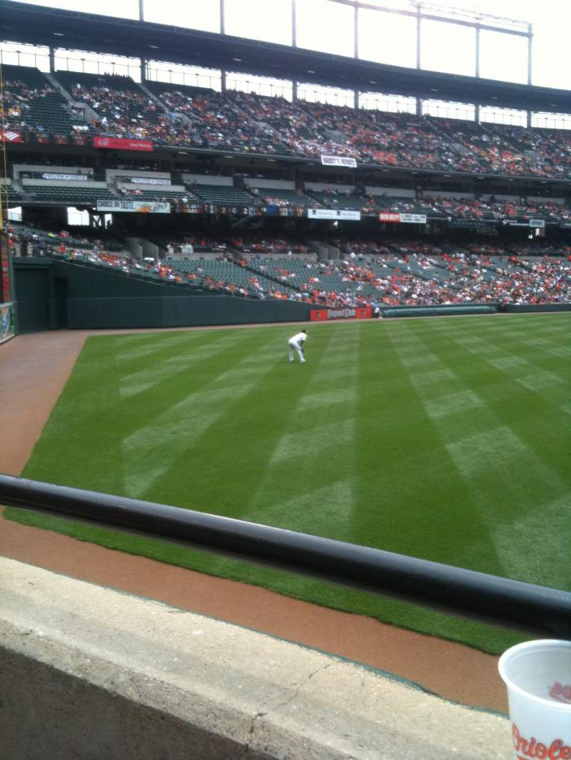 Seating view for Oriole Park at Camden Yards Section 94 Row 1 Seat 1