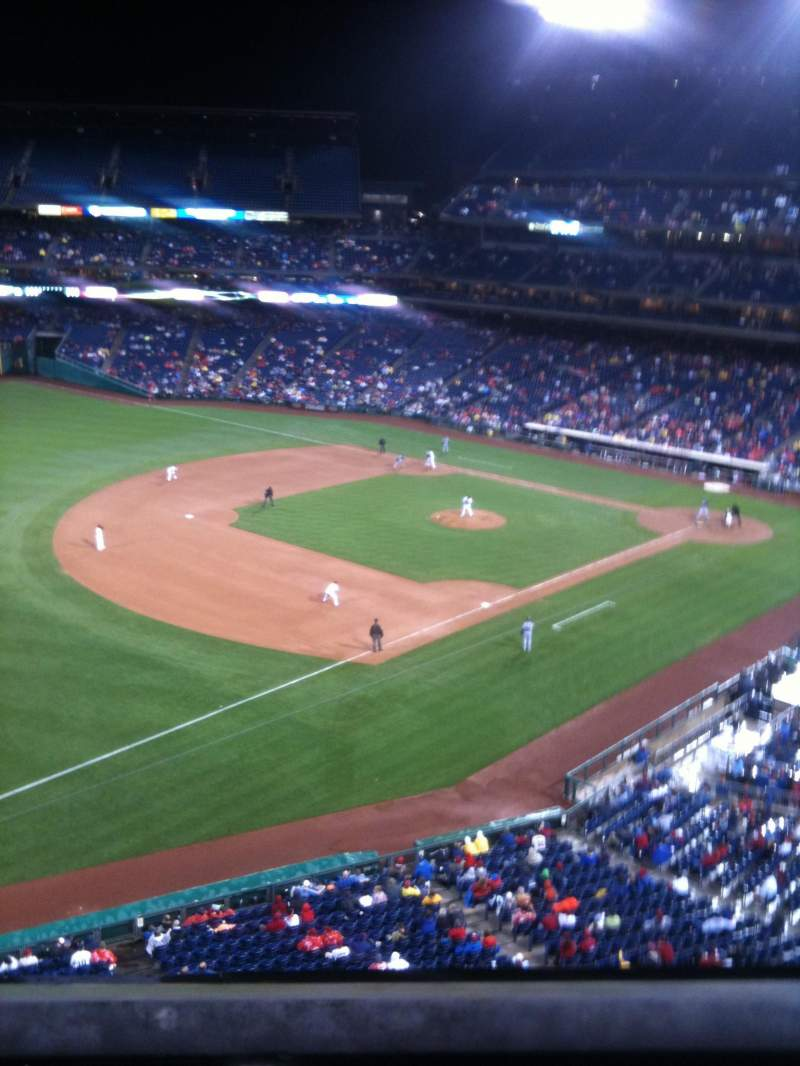 Seating view for Citizens Bank Park Section 331 Row 1 Seat 1
