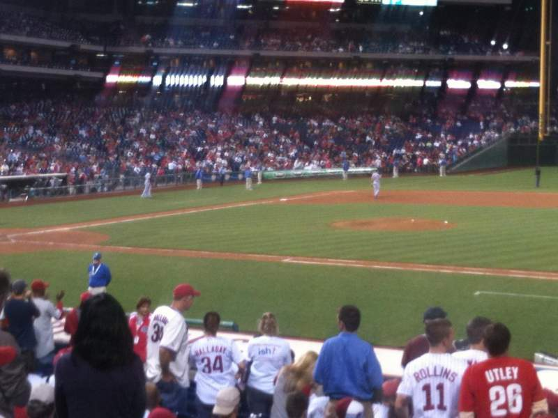 Seating view for Citizens Bank Park Section 116 Row 16 Seat 9