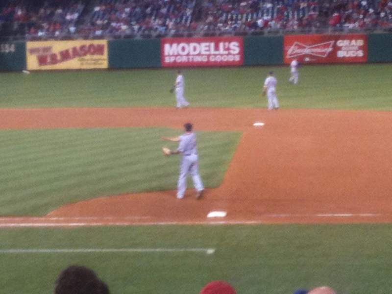 Seating view for Citizens Bank Park Section 116 Row 13 Seat 13