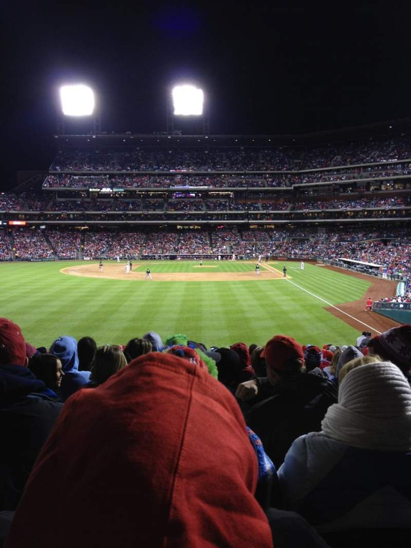 Seating view for Citizens Bank Park Section 142 Row 23 Seat 10