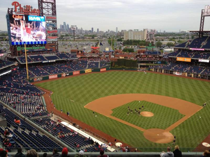 Seating view for Citizens Bank Park Section 422 Row 12 Seat 11