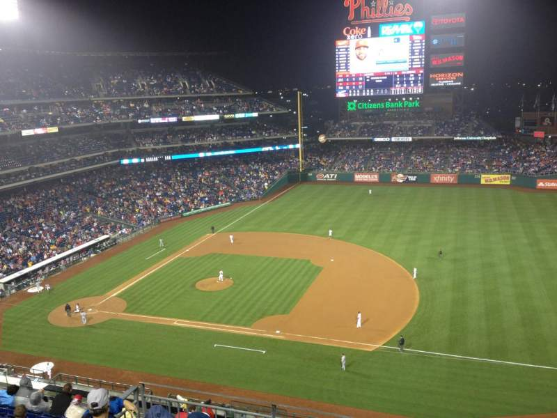 Seating view for Citizens Bank Park Section 413 Row 1 Seat 18
