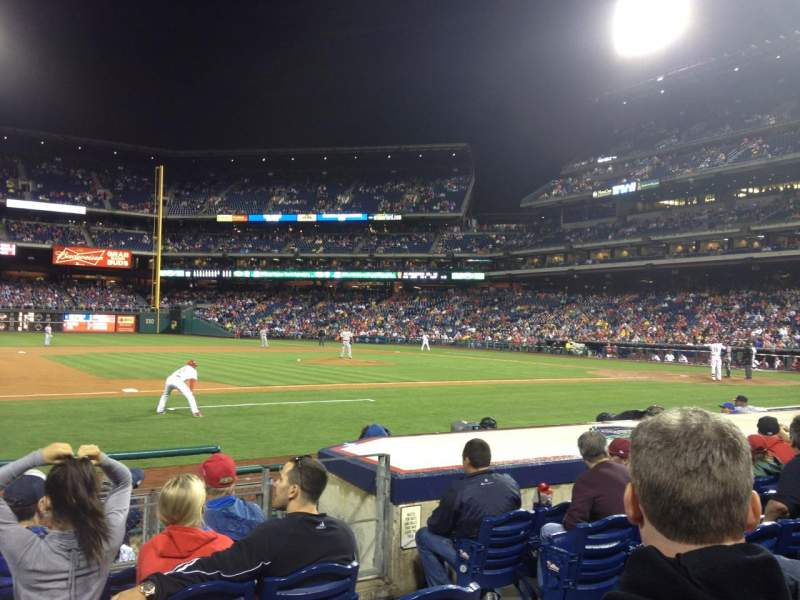 Seating view for Citizens Bank Park Section 132 Row 6 Seat 4