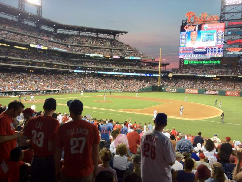 Seating view for Citizens Bank Park Section 114 Row 28 Seat 10