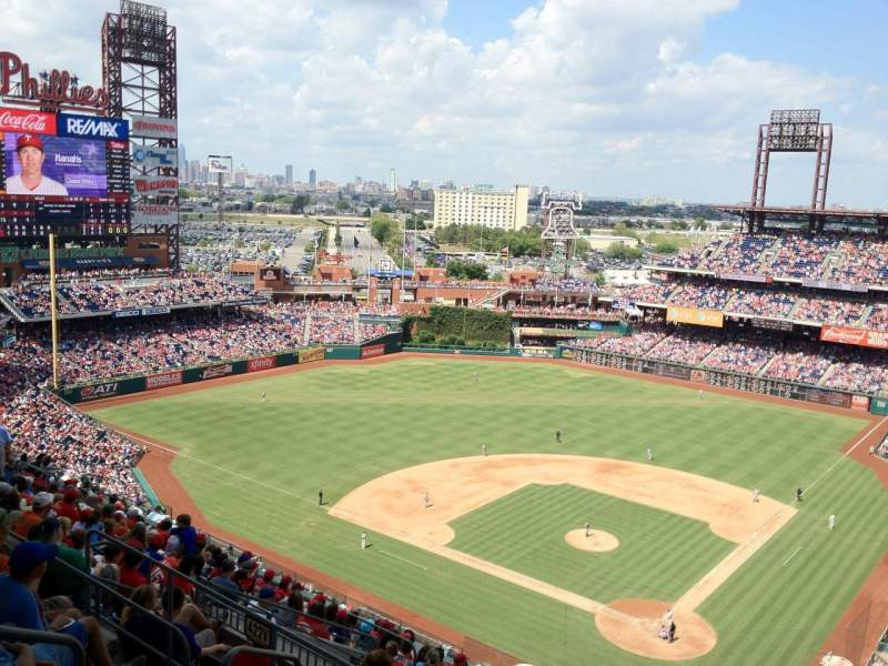 Seating view for Citizens Bank Park Section 422 Row 15 Seat 30