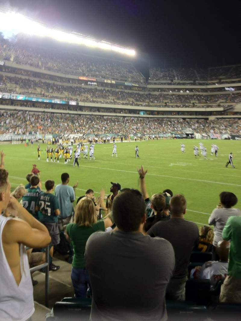 Seating view for Lincoln Financial Field Section 132 Row 8 Seat 10