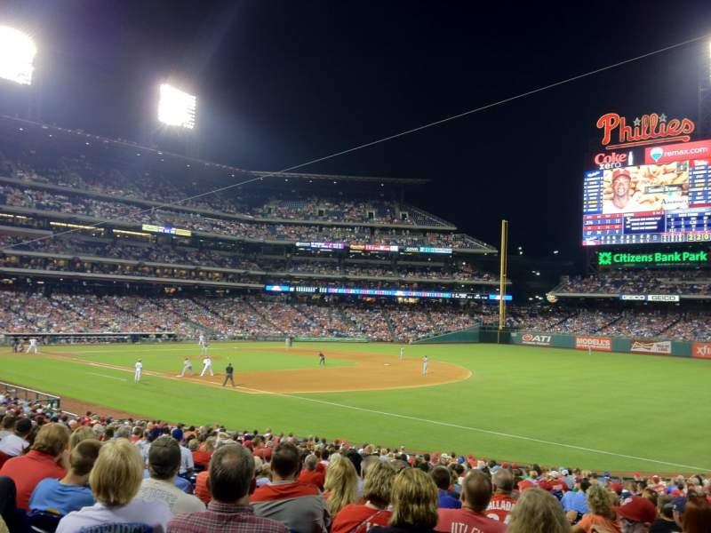 Seating view for Citizens Bank Park Section 111 Row 31 Seat 10