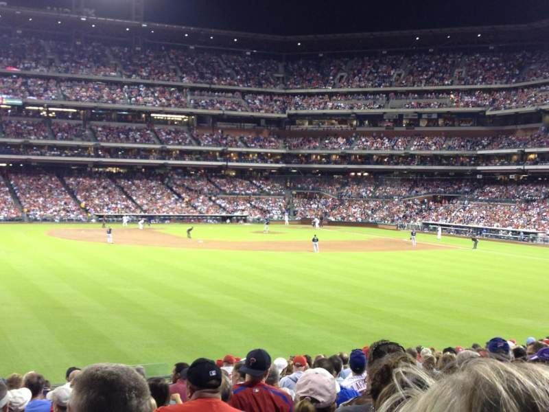 Seating view for Citizens Bank Park Section 146 Row 18 Seat 7
