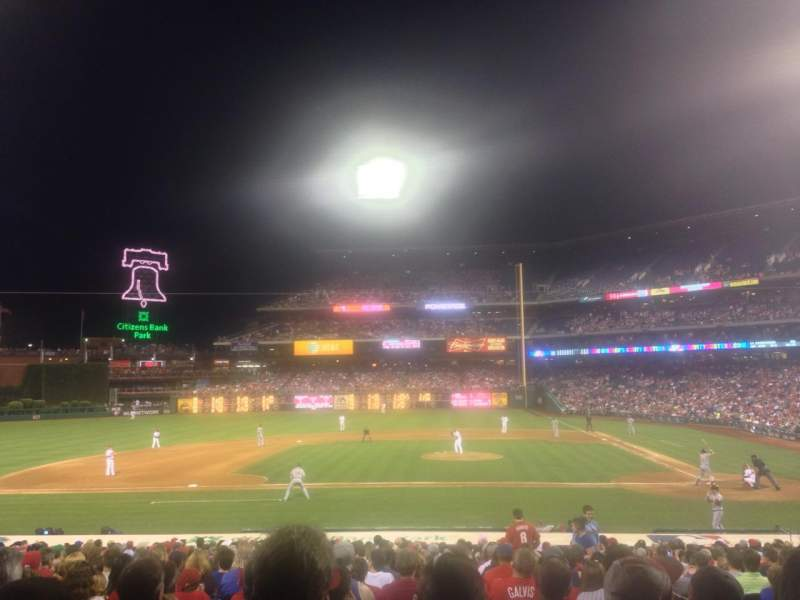 Seating view for Citizens Bank Park Section 130 Row 24 Seat 4