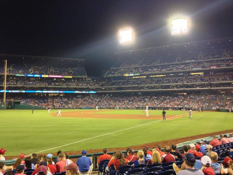 Seating view for Citizens Bank Park Section 138 Row 12 Seat 2