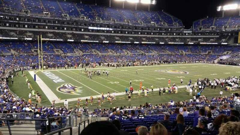 Seating view for M&T Bank Stadium Section 132 Row M Seat 24