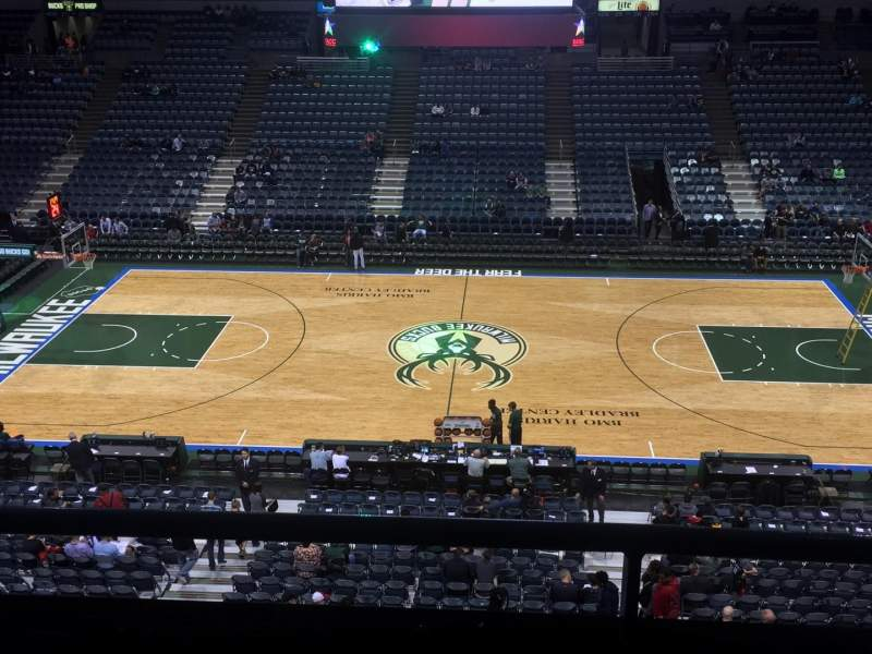 Seating view for BMO Harris Bradley Center Section 400 Row C