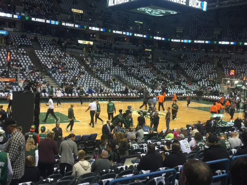 Seating view for BMO Harris Bradley Center Section 212 Row N