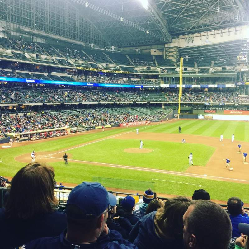 Seating view for Miller Park Section 212 Row 8 Seat 3