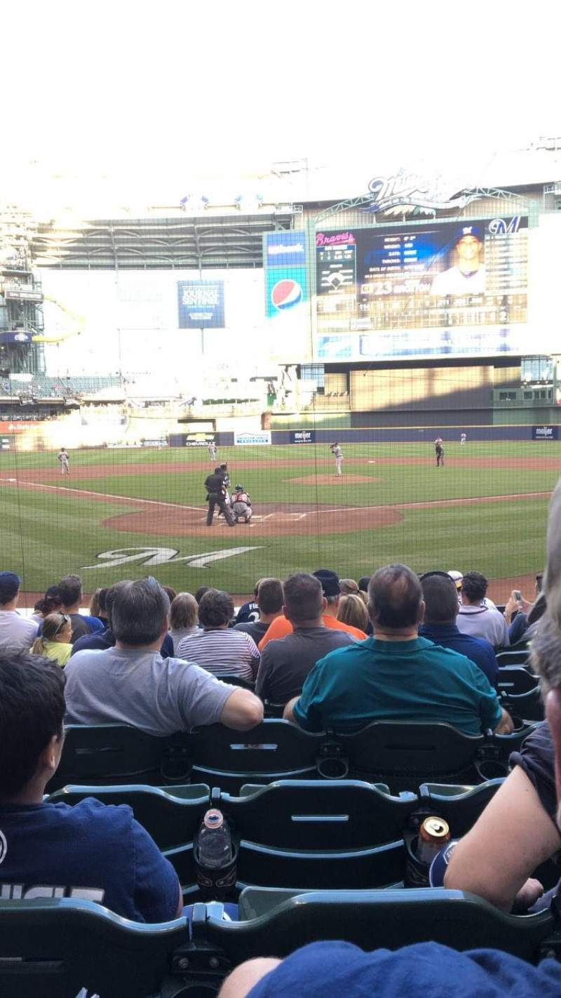 Seating view for Miller Park Section 117 Row 12 Seat 13
