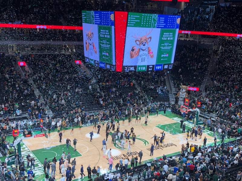 Seating view for Fiserv Forum Section 224 Row 4 Seat 11