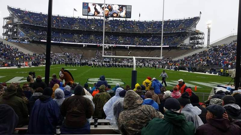 Seating view for Beaver Stadium Section NF Row 1 Seat 8