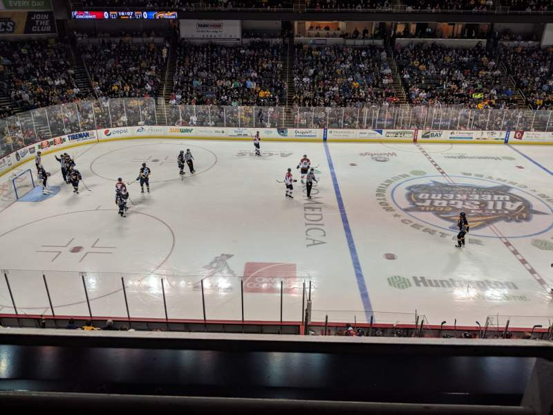 Seating view for Huntington Center Section 208 Row A Seat 1