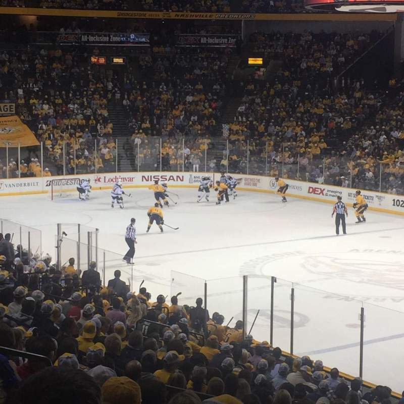 Seating view for Bridgestone Arena Section 108 Row K Seat 14