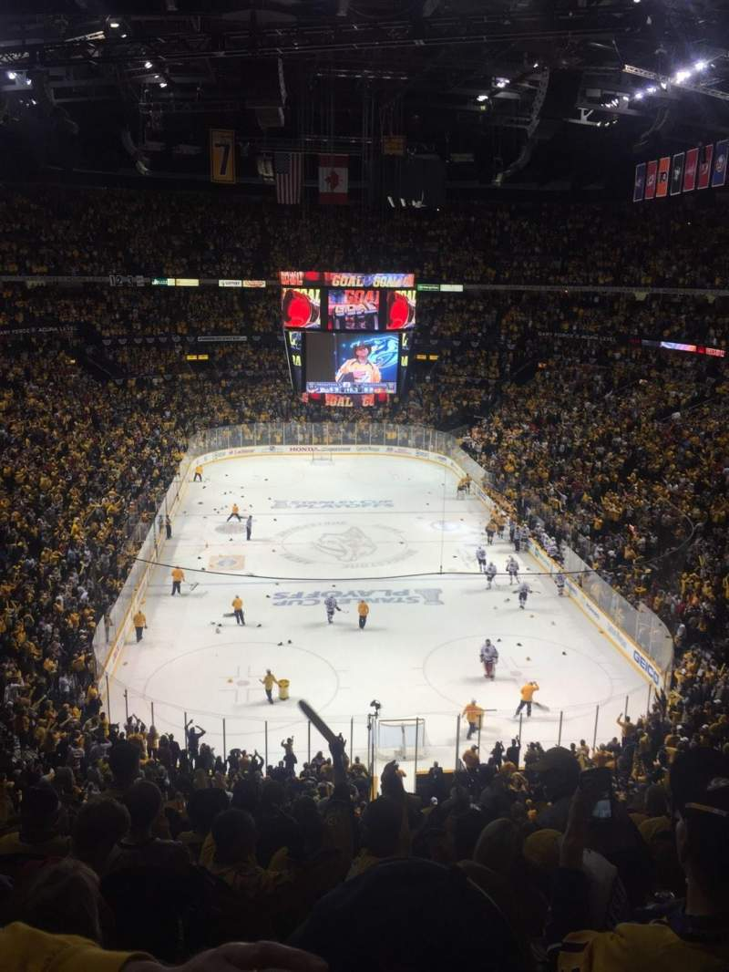 Bridgestone Arena, section: 317, row: K, seat: 10