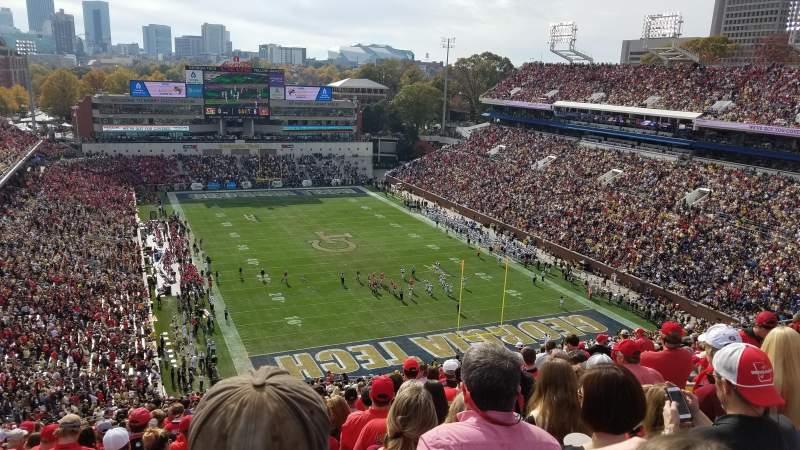 Bobby Dodd Stadium, section: 219, row: 42, seat: 16