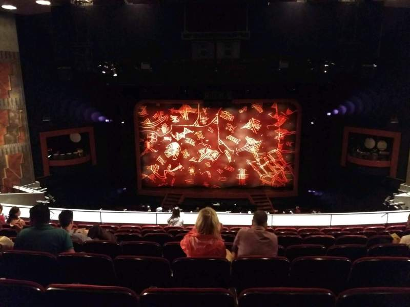 Seating view for Minskoff Theatre Section Mezzanine Row H Seat 127