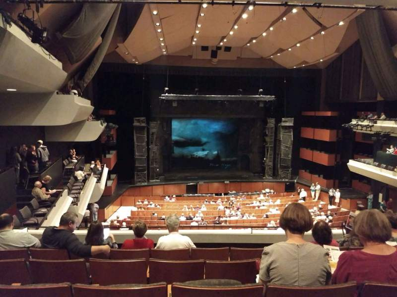 Seating view for Pikes Peak Center Section Mezzanine Row E Seat 10