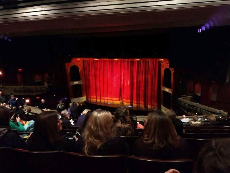 Seating view for Marquis Theatre Section Mezzanine R Row M Seat 6