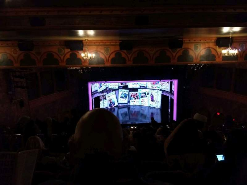 Seating view for August Wilson Theatre Section Mezzanine C Row Q Seat 113