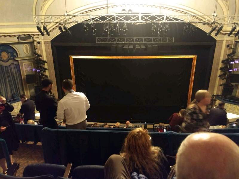 Seating view for Ambassador Theatre Section Rear Mezzanine RC Row C Seat 106