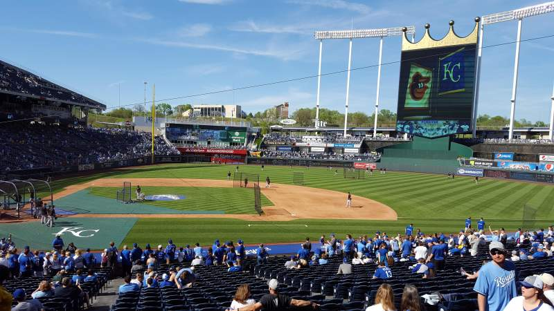 Seating view for Kauffman Stadium Section 232 Row DD Seat 3, 4