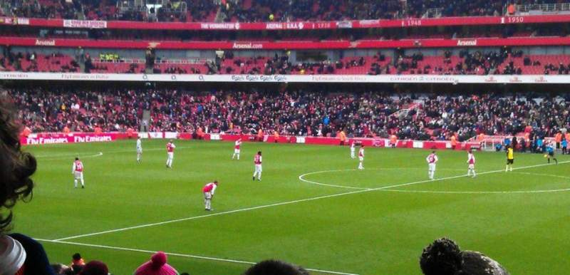 Seating view for Emirates Stadium Section 15 Row 25