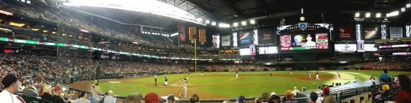 Seating view for Chase Field Section G Row H Seat 10