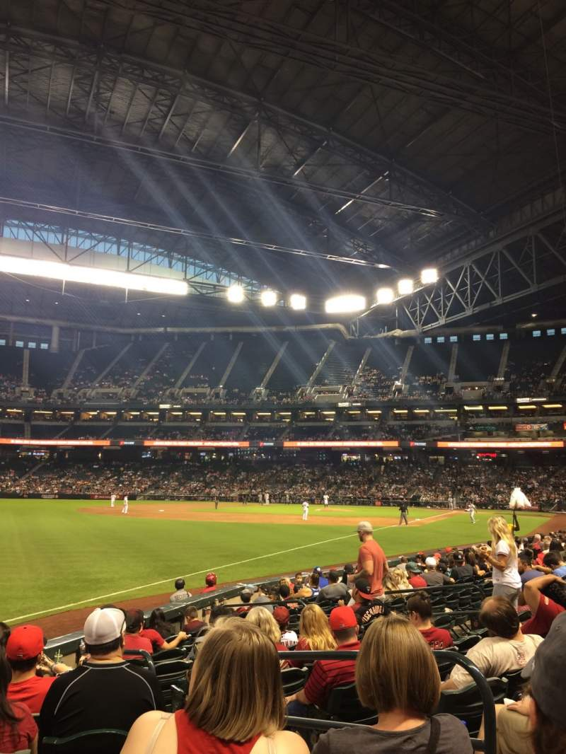 Seating view for Chase Field Section 135 Row 13 Seat 3