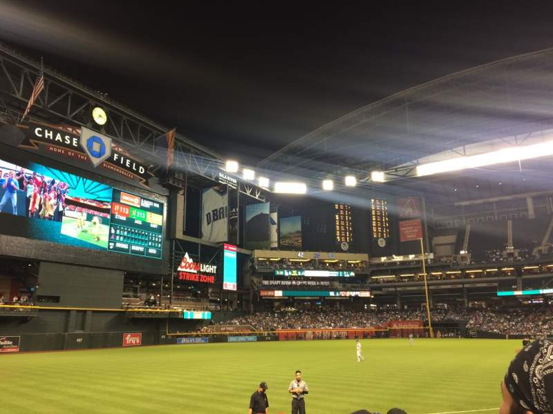 Seating view for Chase Field Section 133 Row 13 Seat 11