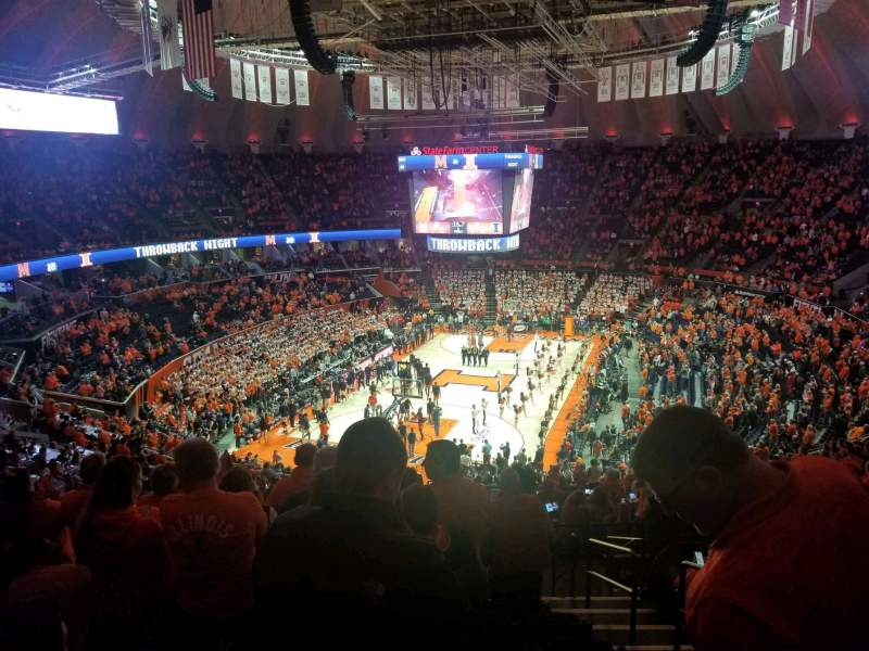 Seating view for State Farm Center Section 211 Row 12 Seat 3