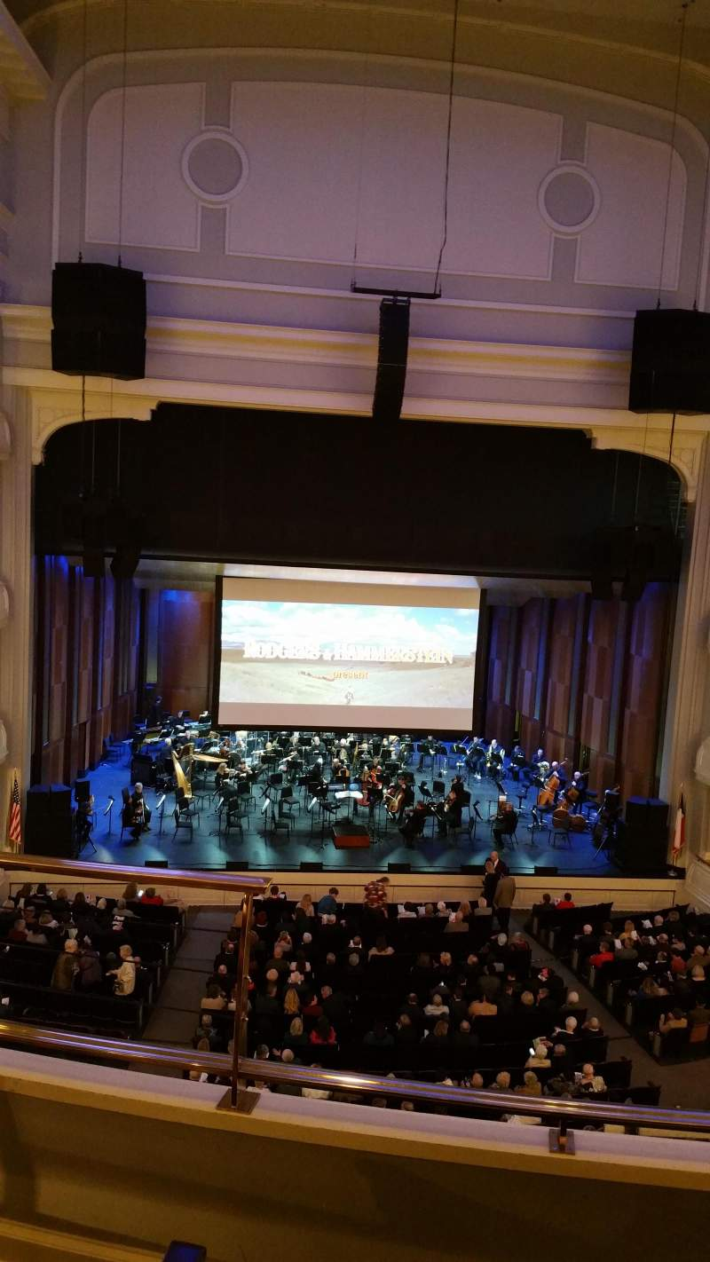 Seating view for Bass Performance Hall Section Mezzanine Center Row C (3rd row) Seat 2
