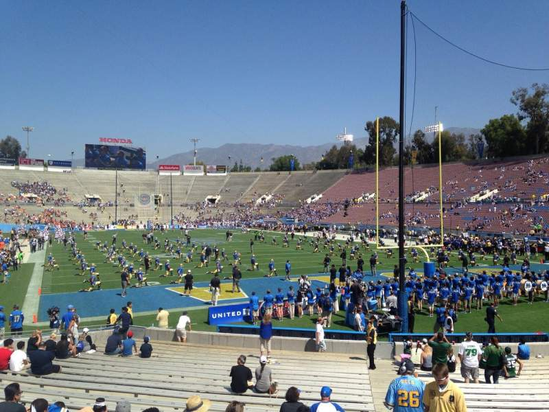 Seating view for Rose Bowl Section 24-L Row 4 Seat 1