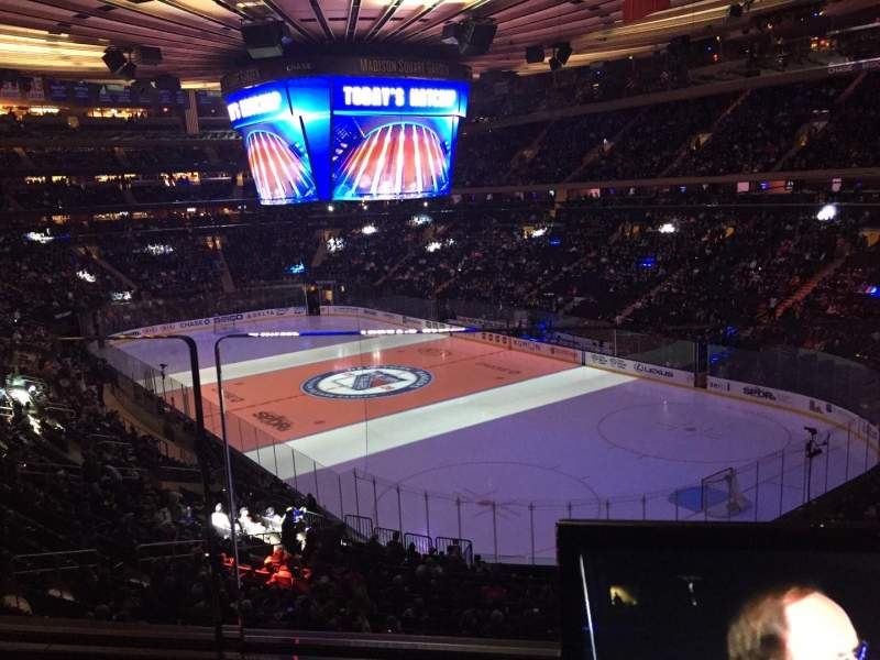 Seating view for Madison Square Garden Section 201 Row 1 Seat 17