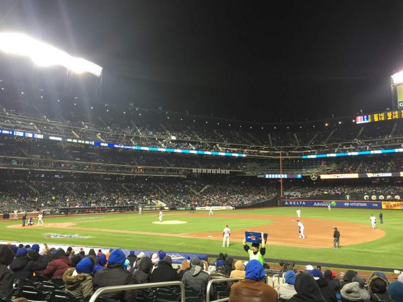 Seating view for Citi Field Section 111 Row 16 Seat 2