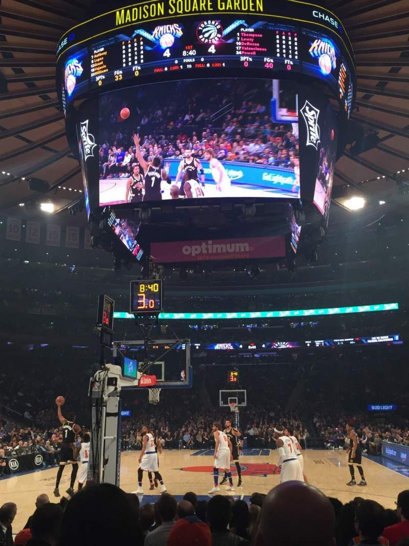 Seating view for Madison Square Garden Section 2 Row 9 Seat 18