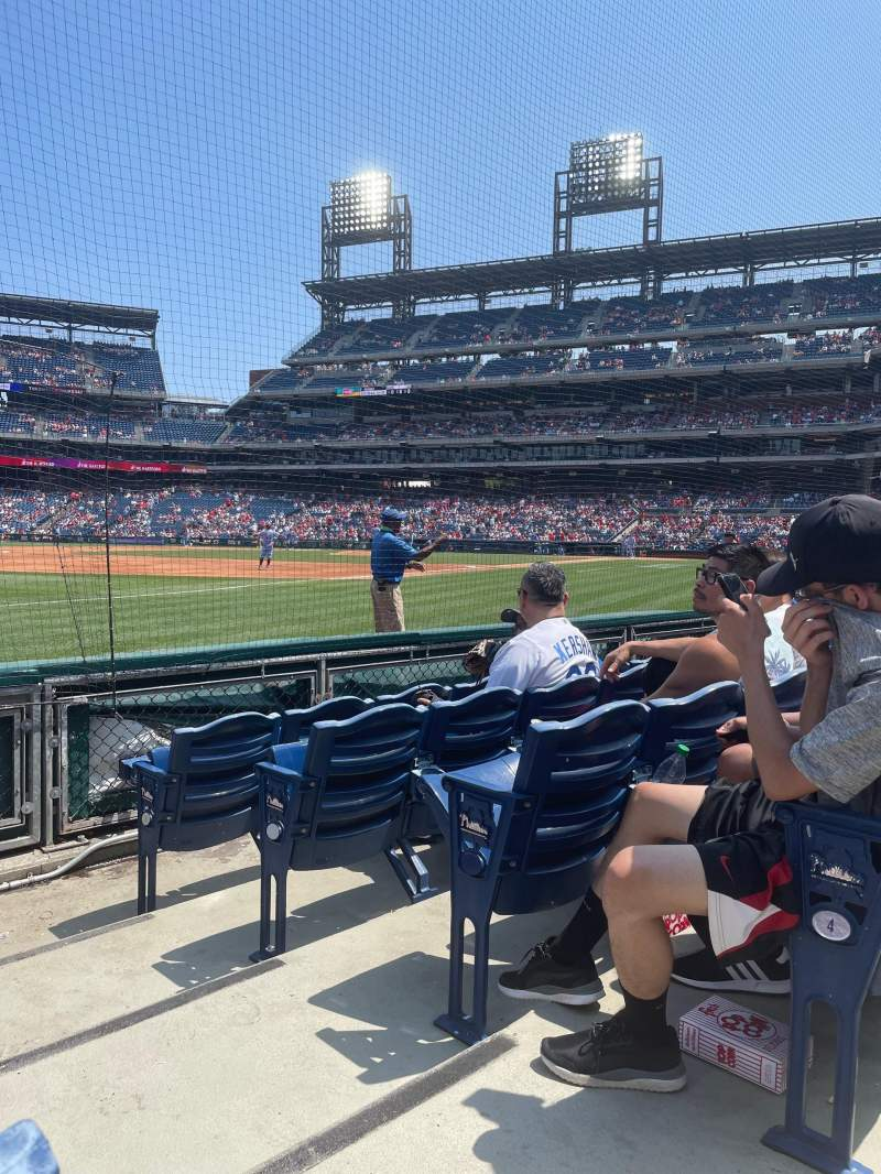Seating view for Citizens Bank Park Section 136 Row 5 Seat 1