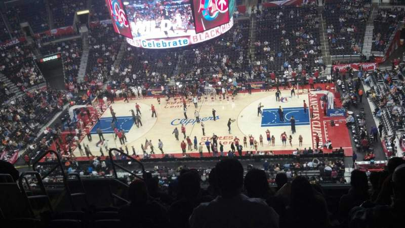 Seating view for Staples Center Section 317 Row 9 Seat 7