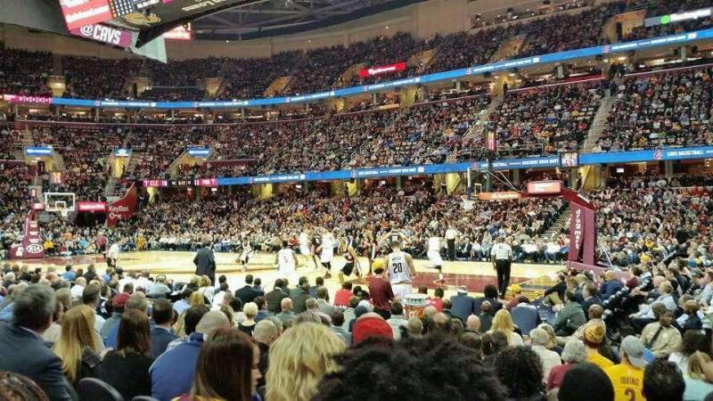 Seating view for Quicken Loans Arena Section 127 Row 8 Seat 18
