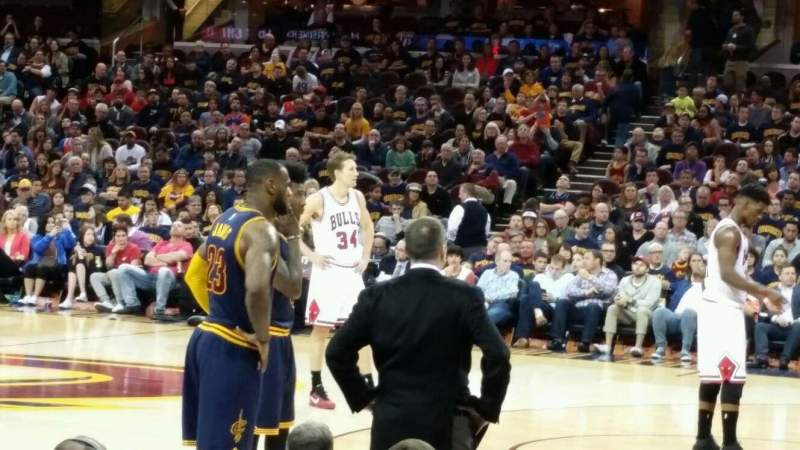 Seating view for Quicken Loans Arena Section 127 Row 6 Seat 3