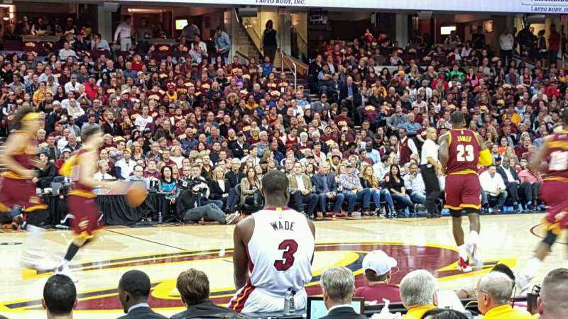 Seating view for Quicken Loans Arena Section 125 Row 5 Seat 8