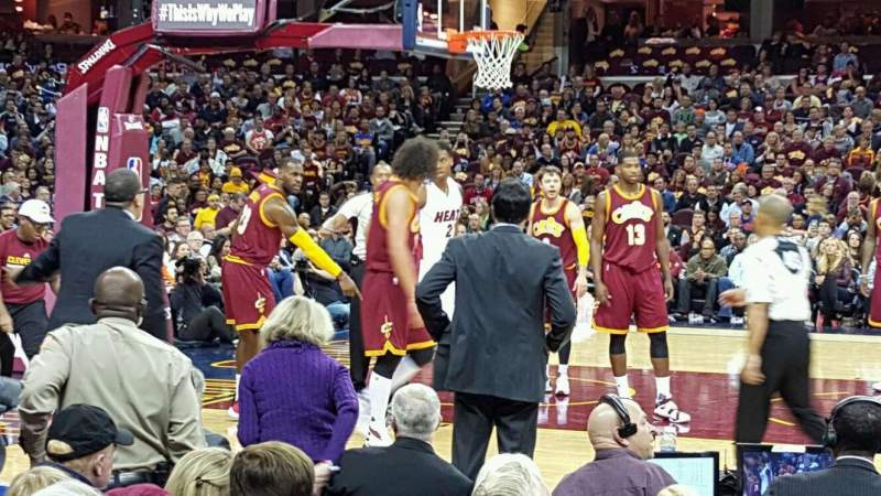 Seating view for Quicken Loans Arena Section 125 Row 5 Seat 7